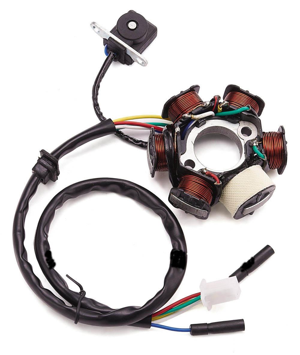 ignition stator magneto 6 coil hotstreet scooters. Black Bedroom Furniture Sets. Home Design Ideas