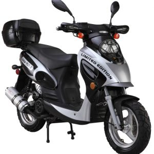 Black 150cc-Scooter-With-Trunk