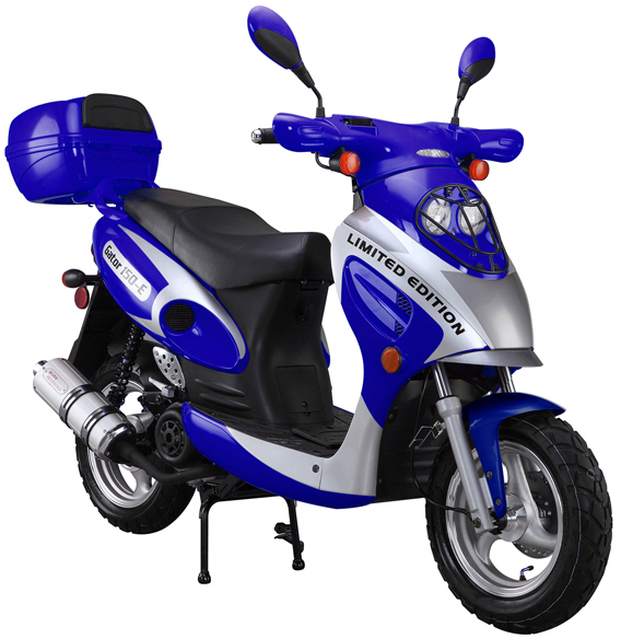Blue 150cc-Scooter-With-Trunk