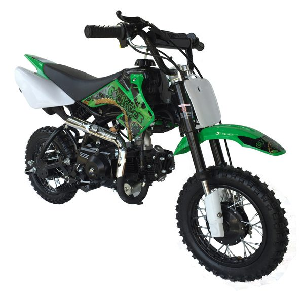green Coolster 110cc motocross-minibike