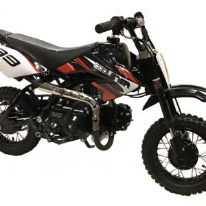 black & red Coolster 110cc motocross-minibike