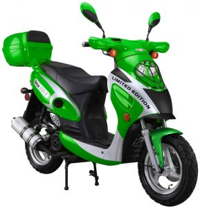 Green 150cc-Scooter-With-Trunk
