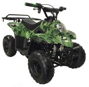 green camouflage Mountopz 110cc 4wheeler-atv