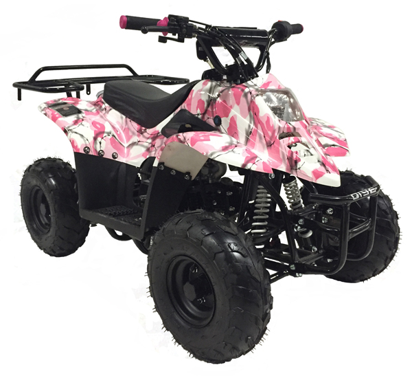 Pink camouflage Mountopz 110cc 4wheeler-atv