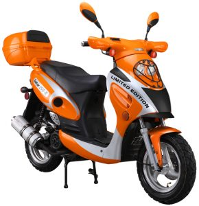 Orange 150cc-Scooter-With-Trunk