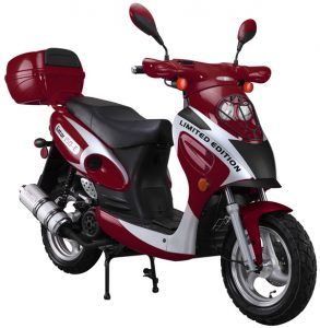 Red 150cc-Scooter-With-Trunk