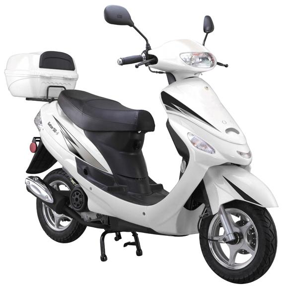 white 50cc-scooter-Gator50S1