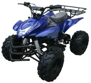 Blue 125cc ATV 4 Wheeler