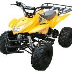Yellow 125cc ATV 4 Wheeler