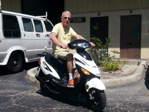 Customer who bought the first NEW 50cc scooter we ever sold