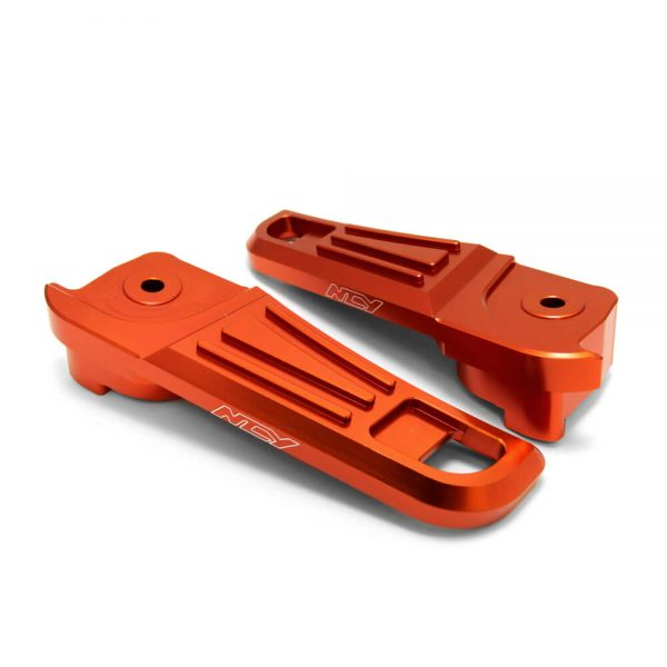 NCY Footrests (Aluminum, Orange); Honda PCX