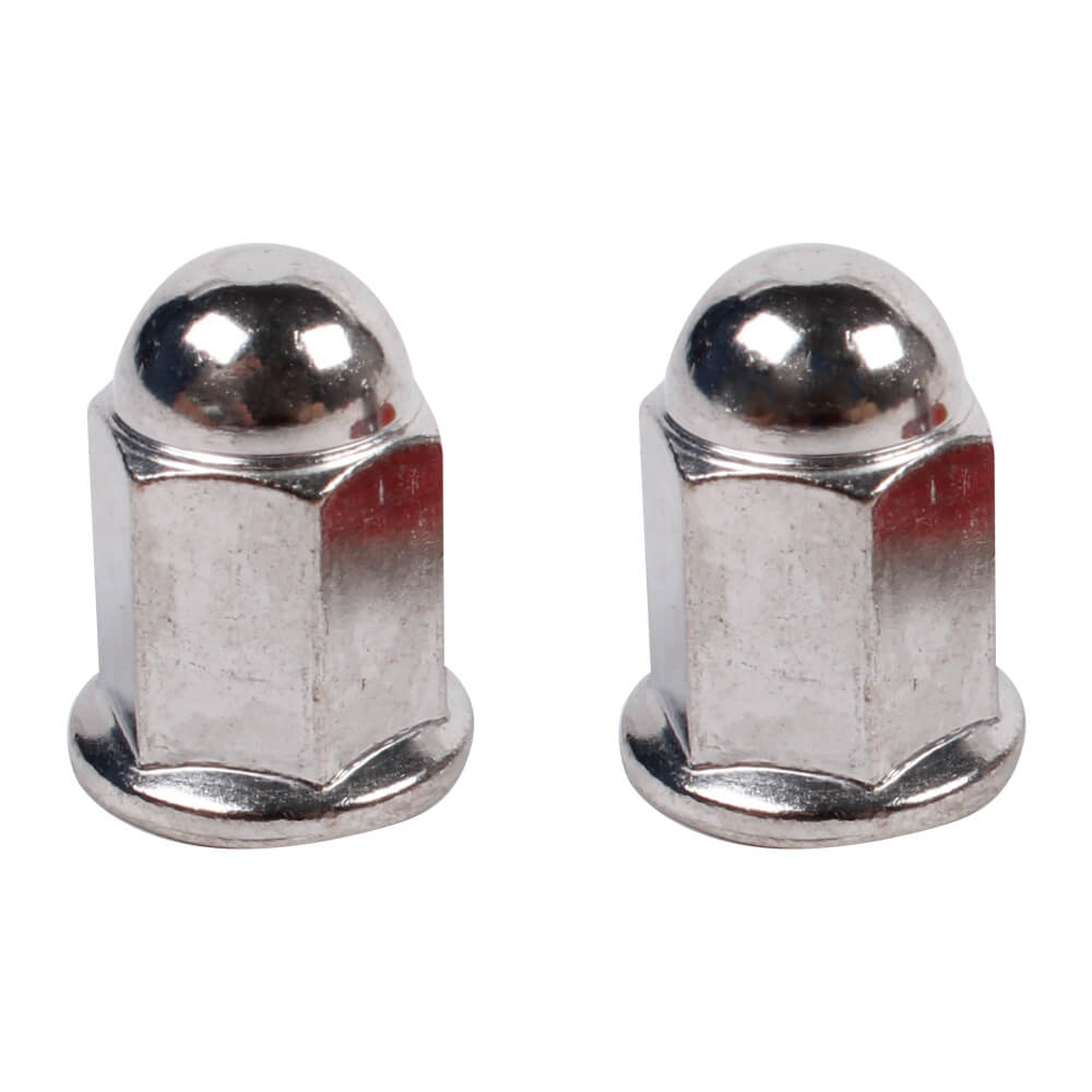 NCY Exhaust Pipe Nuts (6 mm, Acorn, Sold in Pairs)