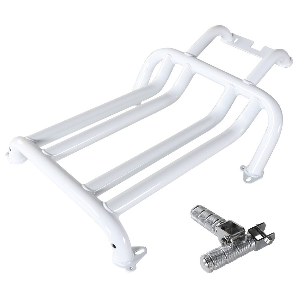 NCY Foot Rest (Gloss White); Honda Ruckus