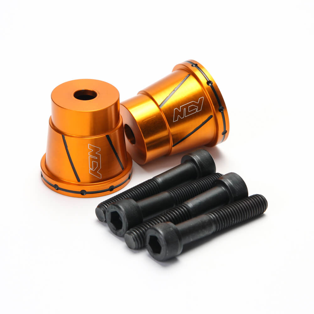 NCY Frame Sliders (Alloy, Orange); Universal