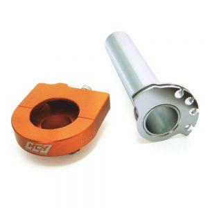 "NCY Throttle Tube (Alloy, Orange, Cam Type, 7/8""); Zuma 50"