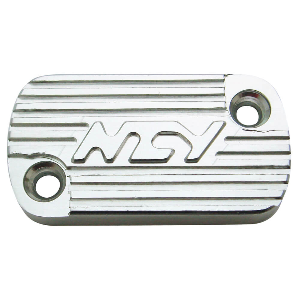 NCY Master Cylinder Cover (Silver, Raised); Honda-style