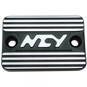 NCY Master Cylinder Cover (Black, Raised); Genuine, Yamaha