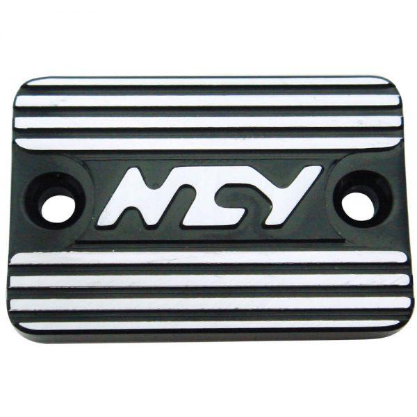 NCY Master Cylinder Cover (Black, Raised); Genuine, Yamaha