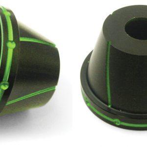 NCY Fork Protectors (Black & Green, 12mm)