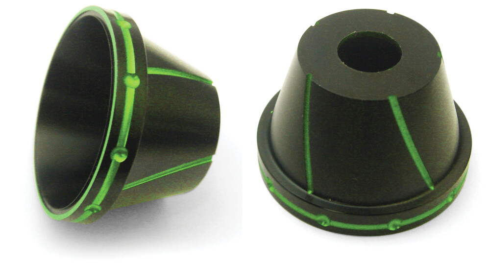 NCY Fork Protectors (Black & Green, 12mm)