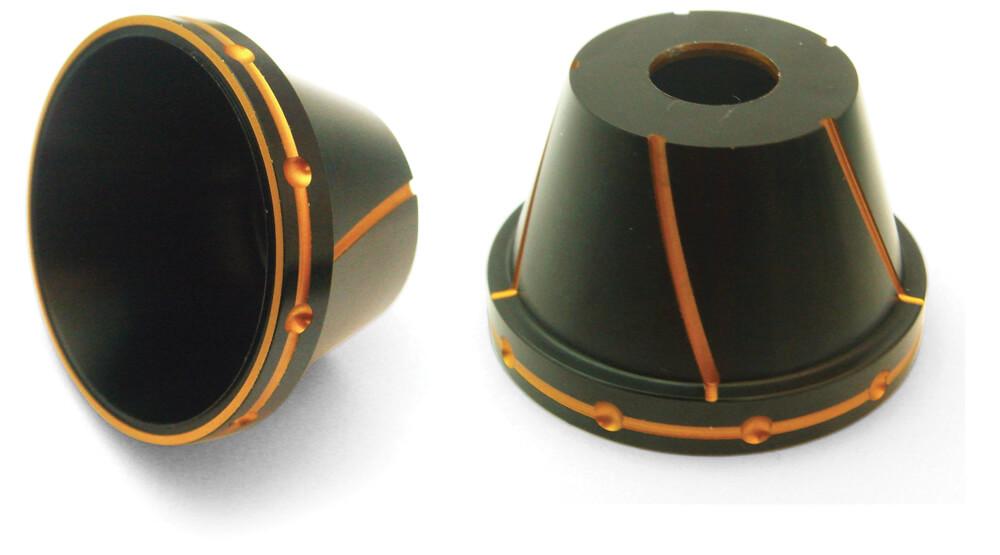 NCY Fork Protectors (Black & Orange, 12mm)