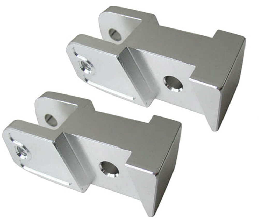 NCY Shock Mount Relocating Bracket (Silver); GY6