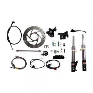 NCY Front End Kit (Titanium Grey, No Rim); Honda Ruckus