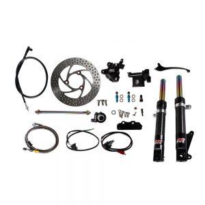 NCY Front End Kit (Carbon Fiber, No Rim); Honda Ruckus